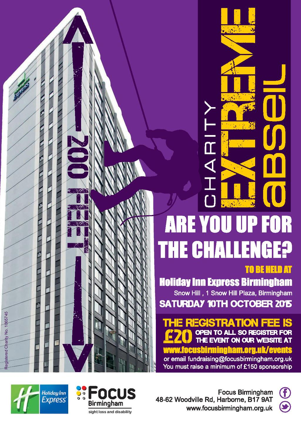 Poster with details of charity abseil