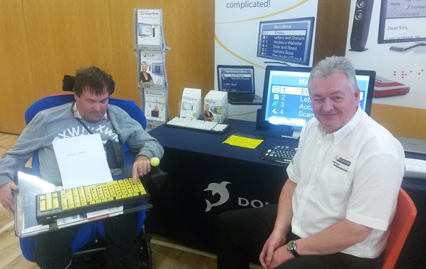 Anthony Ridgway with Dolphin sales manager Dave Salisbury