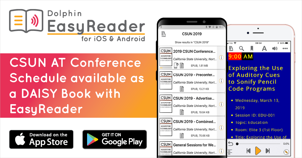 CSUN 2019 AT Conference agenda available on EasyReader