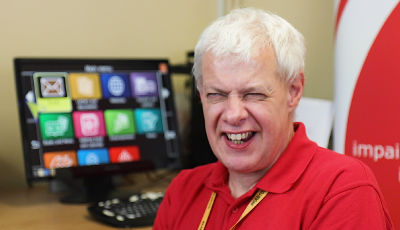 Image of Steve, an Assistive Technology worker from Kent Association for the Blind