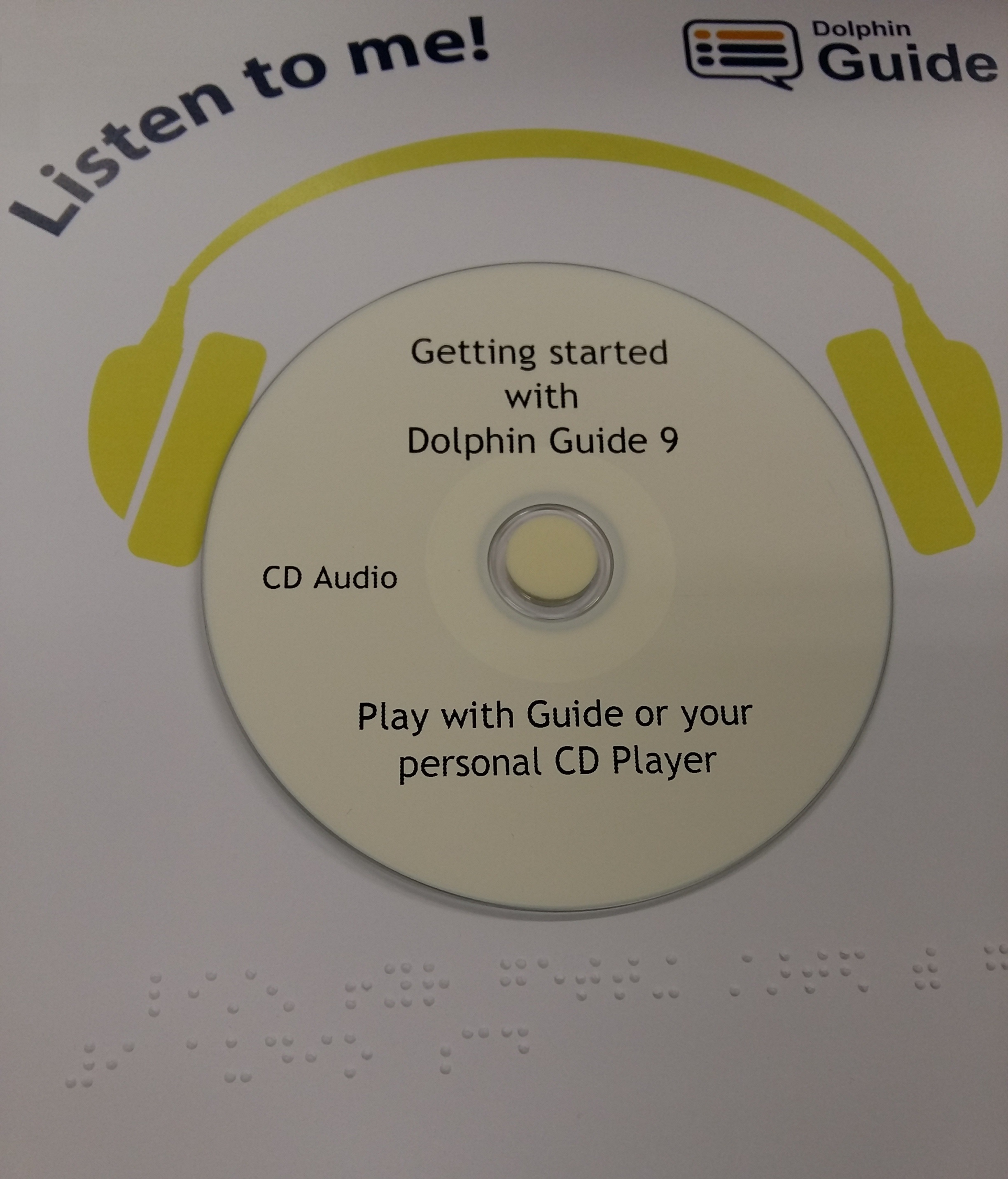 Guide 9 getting strated CD with headphones around it