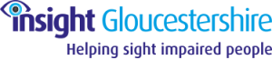 Insight Glocuestershire logo with strapline Helping Sight Impaired People