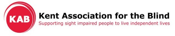 Kent Association for the Blind logo with the strapline