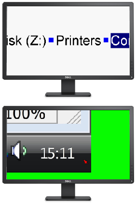 Monitors showing 2 features: line view and margin release