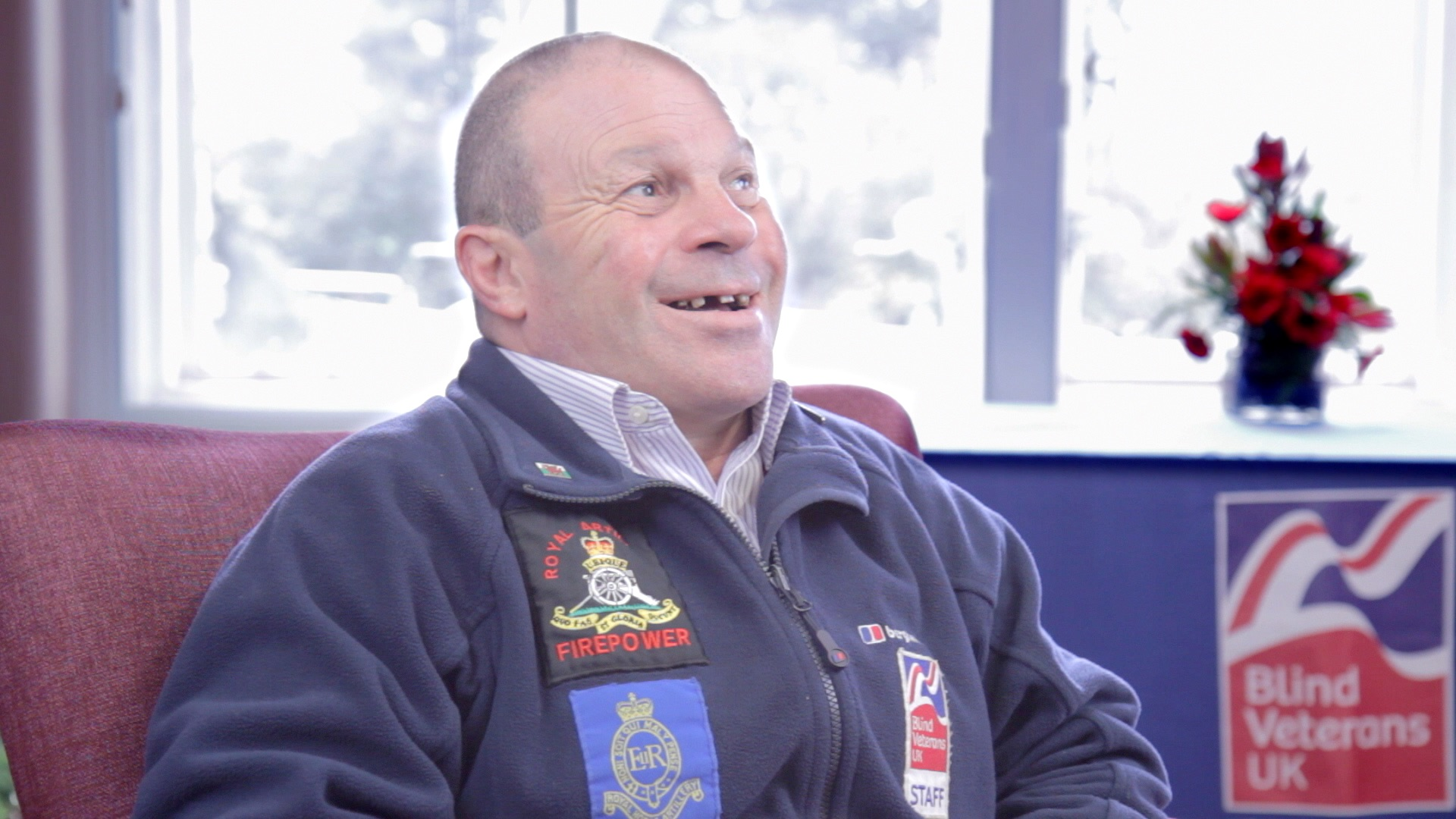 Blind Veterans UK member Billy Baxter