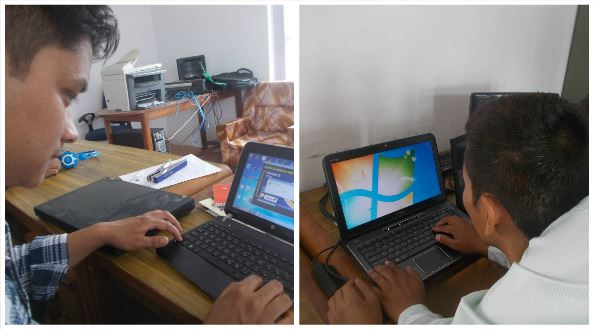 Nepalese students using Guide and SuperNova