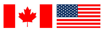 The canadian and U.S.A flags