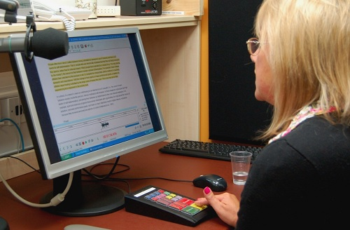 Open University Reader narrating a DAISY book with publisher