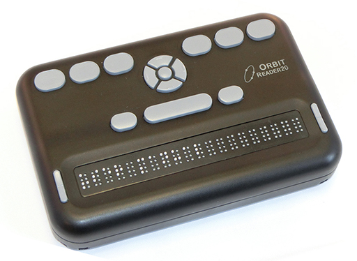 A photo of the Orbit 20 Braille Reader