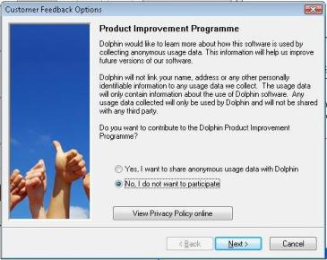 Screenshot of the Product Improvement Programme