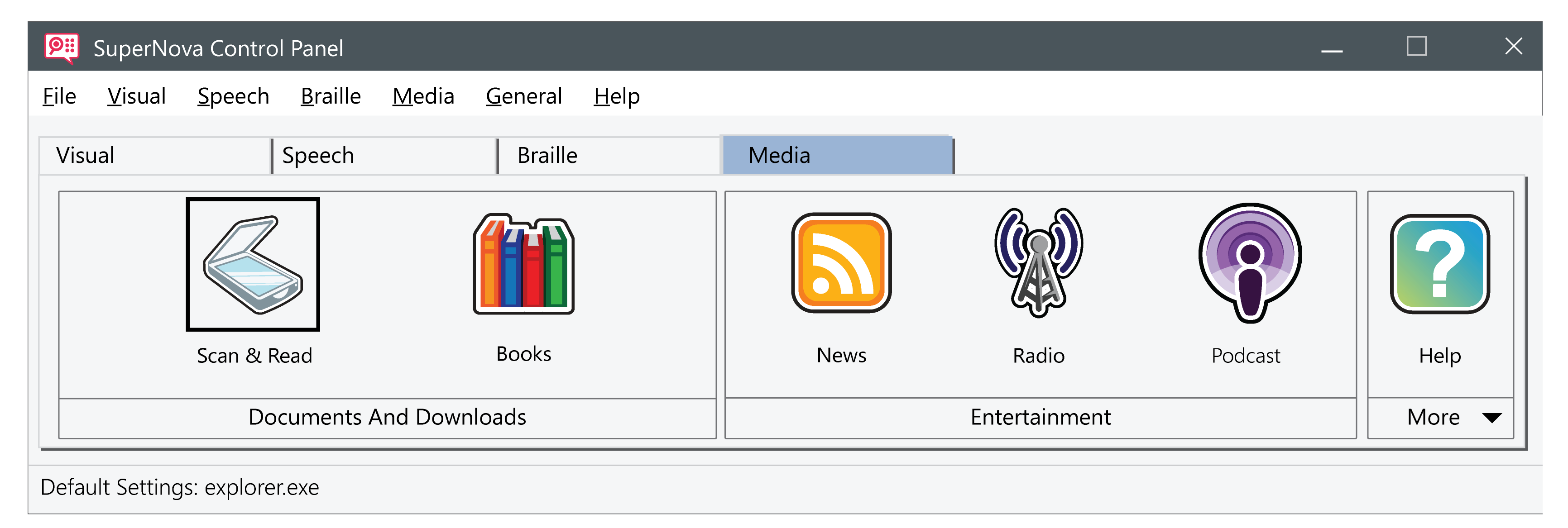the new Media tab in the new SUpernova 16 control panel