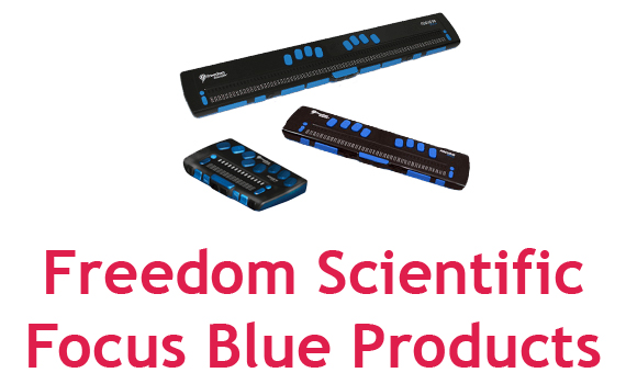 Freedom Scientific Focus Blue range of Braille Displays.