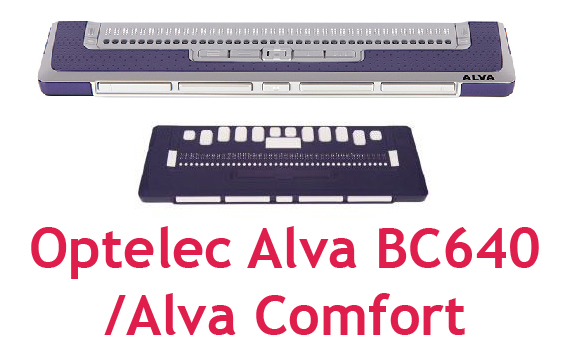Optelec Alva BC640 & Alva Comfort Braille Displays